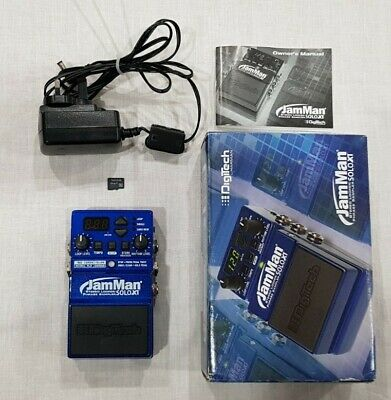 Digitech JamMan Solo XT Stereo Looper - Boxed With SD Card - Guitar Effect Pedal • 31£