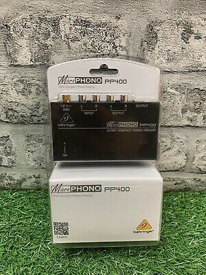 BEHRINGER Micro Phono PP400. Ultra-compact Phono Preamp BRAND NEW • 29.99£