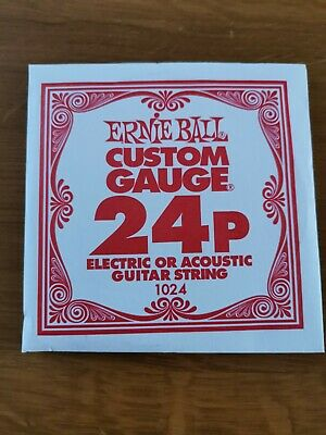 Ernie Ball Custom Gauge 24p Electric Or Acoustic Guitar String • 5.95£
