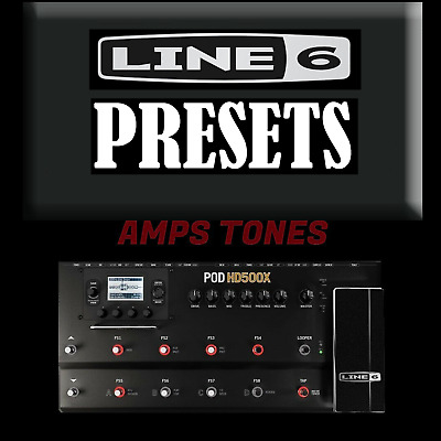 ✪ Hd500x Line 6 Pod  10,000 Custom Presets Artists Patches Effects Amps   ✪  • 6.99£