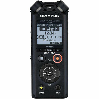 Olympus LS-P4-BLK Linear PCM Recorder High Resolution Sound Compatible 8GB • 131.69£