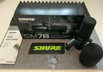 Shure SM7B Dynamic Vocal Microphone (Black) • 350£