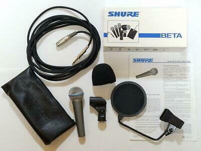 Shure Beta58A Microphone Set Pop Guard Cable • 187.29£