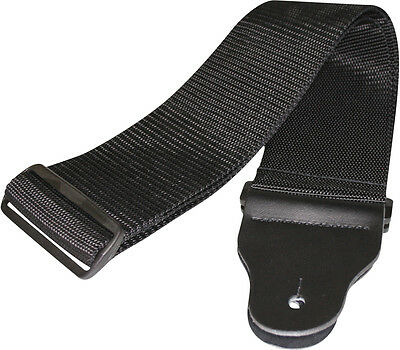 D'addario Planet Waves 75b000 - 3 Inch Black Poly Woven Bass Guitar Strap, New! • 12£