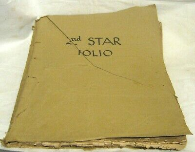 Vintage sheet music booklet 2nd Star Folio 18 separate  pieces