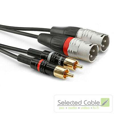 SOMMER CABLE Basic +3M XLR To Rca Adapter- Instrument Cable HBP-M2C2-0300