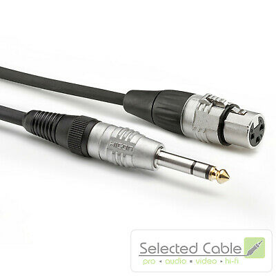 SOMMER CABLE Basic +3M XLR On 6,3mm Chinch- Adapter Cable HBP-XF6S-0300
