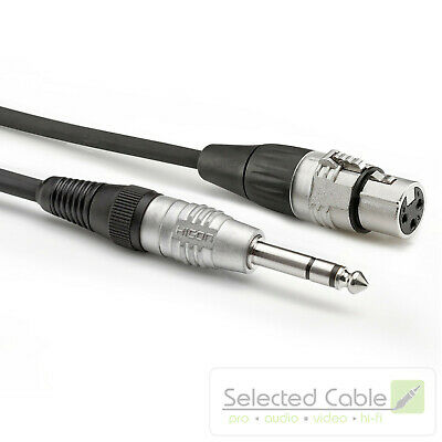 1,5m Adapter Cable XLR On 6,3mm Jack 3-pol SOMMER CABLE Basic + HBP-XF6S-0150