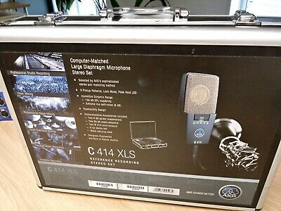 akg c414 xls Matched Stereo Pair + All Accessories and manuals