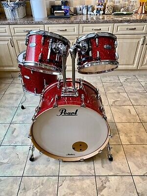Pearl Masters Mct Inferno Red Drum Kit Shell Pack Unique!!