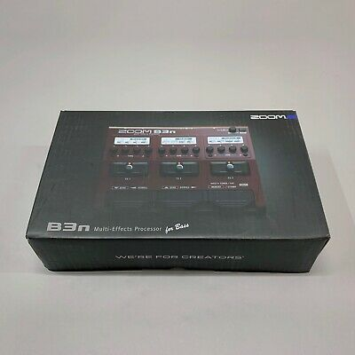 Zoom B3N Multi Effects Processor Pedal For Bass Guitar