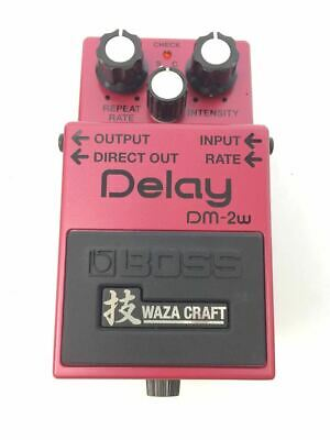 Boss Effector Dm-2W Delay For Guitar Pink Used