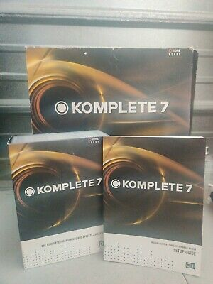 Native Instruments Komplete 7 Sound PlugIns & Library ONLY CDS