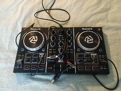 Numark Party Mix USB 2 Channel DJ Controller with Light Show and Speaker Cable
