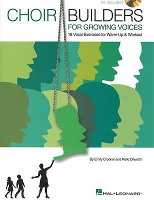 Choir Builders Vocal Exercises Warm-up Workout Sing Voice Music Book & CD • 21.99£