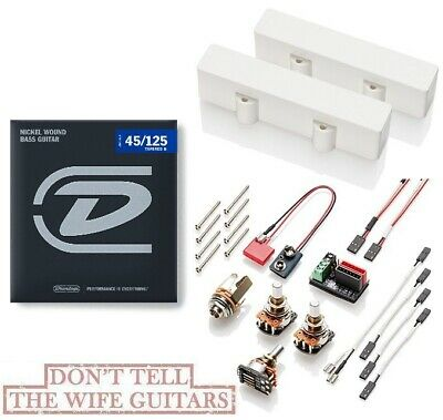 Emg J5 Set White Active 5 String Jazz Bass J Pickup Set & Wiring (bass Strings)  • 152.28£