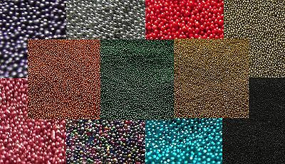 50g To 100g Micro Glitter Glass No Hole 0.7mm Beads For Scrapbooking Card Crafts • 4.36£
