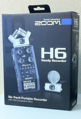 NEW ZOOM H6 Handy Recorder Interchangeable Microphone Linear PCM • 362.29£