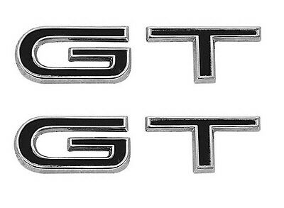 NEW! 1967 Ford Mustang GT Fender Emblem Set Both Left And Right Side G. T. 4 Spd • 40.96£
