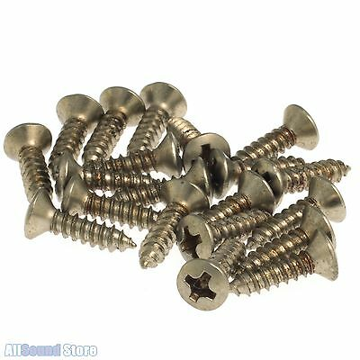 MASTER RELIC 20 Pickguard Screws AGED NICKEL for Fender Bass/Guitar #4 x 1/2