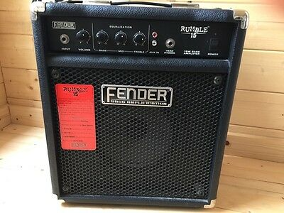 Fender Rumble 15 Bass Amplifier - 2nd Hand - Perfect Working Condition! • 90£