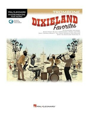 Play-Along Dixieland Favorites Trombone Learn To Play MUSIC BOOK & Online Audio • 11.99£