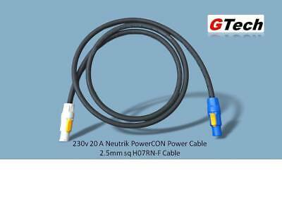 Full 20A Rated - Neutrik PowerCON NAC3FCA To NAC3FCB - 1m X 2.5mm H07RN-F • 18.50£