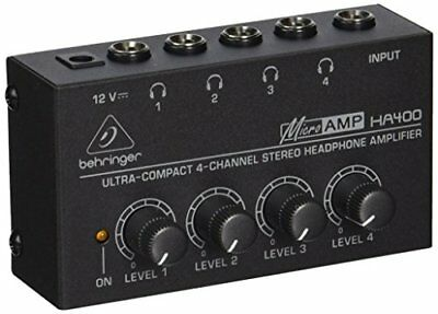 Behringer HA400 Microamp 4 Channel Stereo Headphone Amplifier • 20.78£