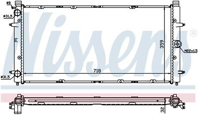 Nissens 65273A Engine Coolant Radiator [Next Working Day To UK!] • 67.22£