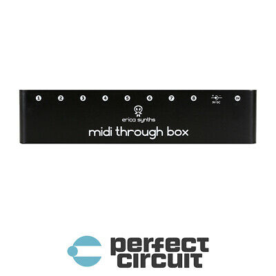 Erica Synths MIDI Through Box 1IN 8OUT SPLITTER - NEW - PERFECT CIRCUIT