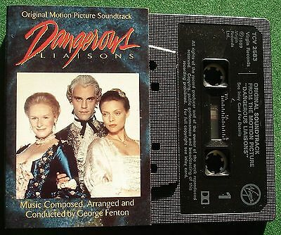 Dangerous Liaisons OST George Fenton Cassette Tape - TESTED • 4£