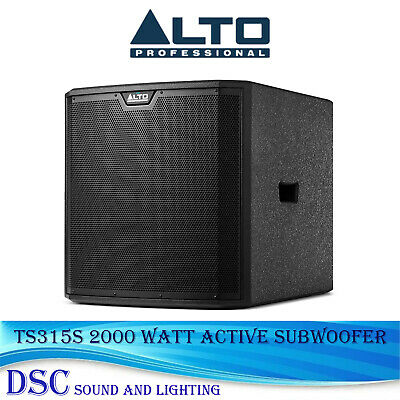 Alto Truesonic Ts315s Active 15  Powered 2000 Watt Amplified Subwoofer With Dsp • 469£