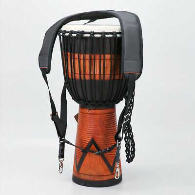 Percussion Djembe Drum Standing Shoulder Strap Durable African Drums Belt • 13.16£