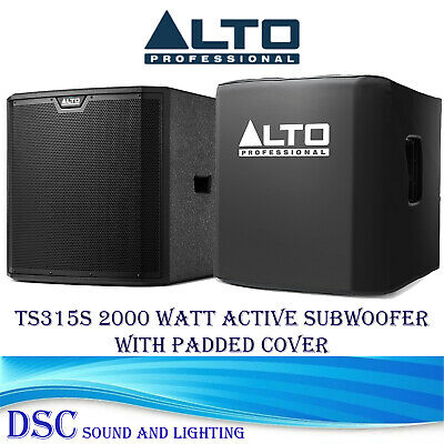 1 X ALTO TRUESONIC TS315S ACTIVE 15   2000 WATT AMPLIFIED SUBWOOFER WITH COVER • 459£