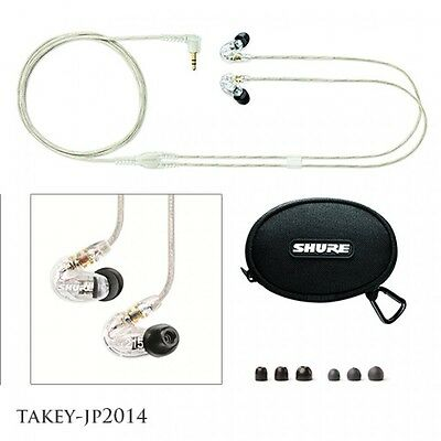 SHURE SE215-CL Sound Isolating Clear Earphones MicroDriver F/S With Tracking • 211.64£