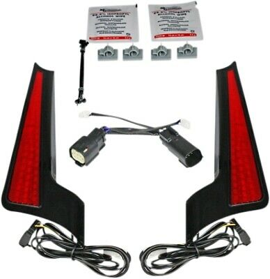 Custom Dynamics Black Red Lens Rear Fender Fill Fascia Panel Harley FLH/T 14-Up • 153.83£