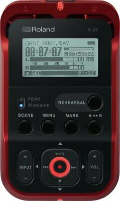 Roland High-Resolution Handheld Audio Recorder, Red (R-07-RD) • 140.80£