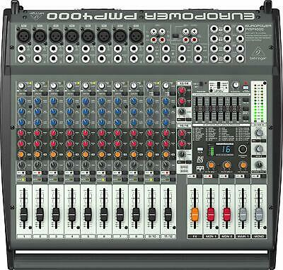 Behringer EUROPOWER PMP4000 1600W 16 Channel Powered Mixer • 472.31£