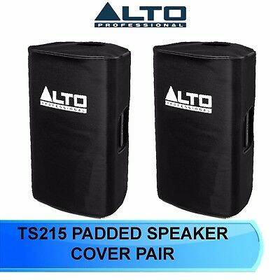 2 X Alto Truesonic Ts215/ Ts315 Slip On Padded Speaker Cover For  Ts 215  Ts 315 • 55£