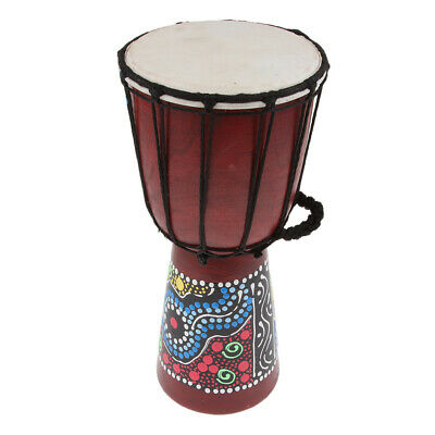 6  African Djembe Drum Hand Percussion Toy For Kids Baby Home Decor Display • 17.56£