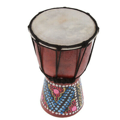 4  African Djembe Drum Percussion Toy Party Accs Home Decor Display Gift • 9.34£