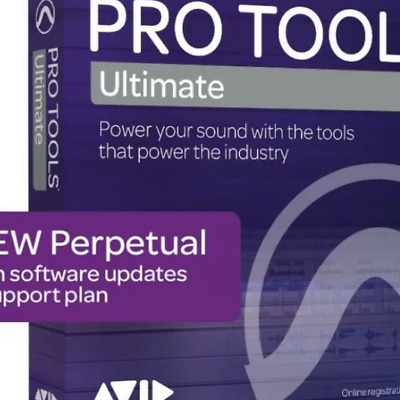 NEW Pro Tools ULTIMATE PROTOOLS PERPETUAL HD Software License Download • 995.29£