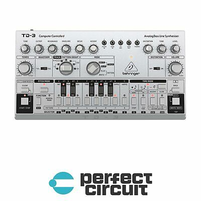 Behringer TD-3  (Silver) Analog Bass Desktop SYNTHESIZER NEW - PERFECT CIRCUIT • 120.30£