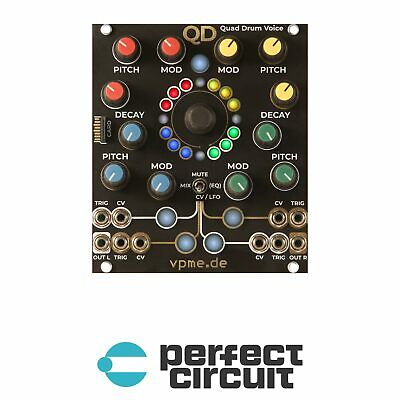 Vpme.de QD Quad Drum Voice Percussion Modular EURORACK - NEW - PERFECT CIRCUIT • 282.33£