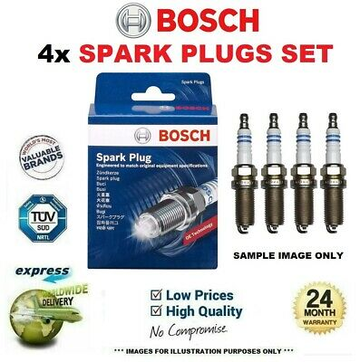 4x BOSCH SPARK PLUGS For PEUGEOT MOTORCYCLES 105 105 Z2-D 1981->on • 30.95£