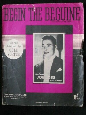 Begin The Beguine by Cole Porter (Chappell & Co, 1940) Music for Voice and Piano