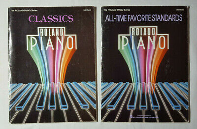The Roland Piano Series -classic, all time favorites x2 books 1986 Hal leonard