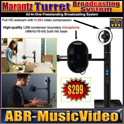 Marantz Professional Turret Broadcaster Video-Streaming System 1080p HD Video • 217.83£