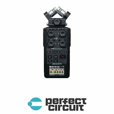 Zoom H6 All Black Field Recorder PRO AUDIO - NEW - PERFECT CIRCUIT • 237.11£