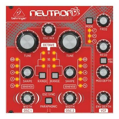 Behringer Neutron Paraphonic Analogue And Semi-Modular Synthesizer Red • 478.73£